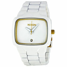 A140 1035 NIXON PLAYER ALL WHITE/GOLDBRAND