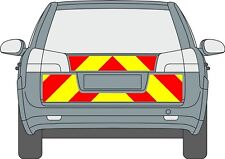 Vauxhall Vectra c Estate Reflective Rear Chapter 8 Chevron kit decal graphic