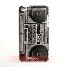 Retro Boombox Cassette Tape Player Hard Case Cover Skin for iPod Touch 4 4th gen