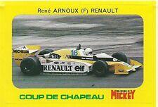 Autocollant sticker Mickey René Arnoux Renault RE20 F1 Formule 1