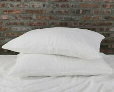 100% Pure Linen Pillowcase 2 Bed Pillows Cover Case eco-friendly natural flax
