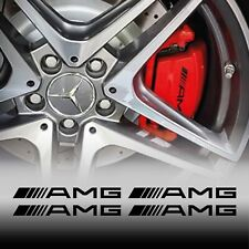 4 adesivi pinze freni per AMG mercedes benz tuning stickers classe A C CLA E