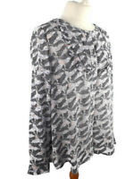 NEW White Stuff Size 10 £42 Long Sleeve Top Blouse Smock Shirt Blue Black BNWT