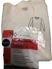 Rare vintage 50s 60s Pilgrim thermal long sleeve shirt L under wear knit New