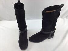 Stuart Weitzman The Casey Black Suede Mid Calf Boots Size 7.5M  H2513/