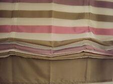 1 Rollo Raffrollo Faltrollo Klettband Schlaufen braun rosa weiß B/H 100 x 175