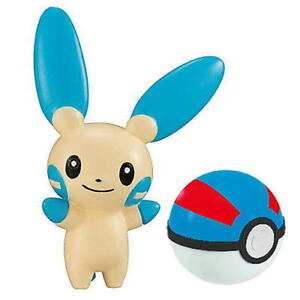 Pokemon Get Sword & Shield Minun w Great ball Collectible Toy Figure Anime Japan