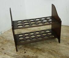 More details for antique 32.5 cm two tier wooden 36 egg rack kitchen egg stand