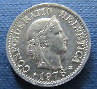 Schweizer Franken 1978 10 Rappen für Sammler aus Umlauf