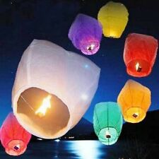 10X Color Kongming Lanterns Chinese Paper Wish Lamp Sky Candle Flying Fire Party