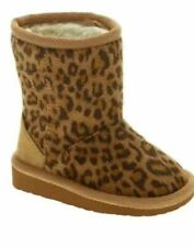 NEW LITTLE GIRLS LEOPARD BOOTS INFANT / TODDLER BY GARANIMALS SIZE 5 PULL-ON