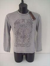 T-shirt Roberto Cavalli,colore grigio perla pantera,tg 50