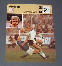 FICHE FOOTBALL 1978 BERNARD DIETZ DEUTSCHLAND BRD RFA MSV DUISBURG