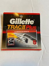gillette trac ii plus razor blades 5 Pack New Factory Sealed