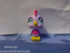 Littlest Pet Shop Purple Parrot with Blue Eyes #1459