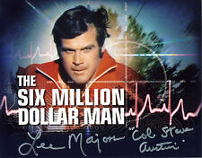 REPRINT - LEE MAJORS 3 Six Million Dollar Man Steve Austin autograph photo copy