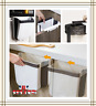 UK 9L Folding Kitchen Waste Bin Trash Can Basket Hanging Over The Cabinet Door