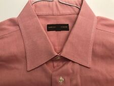 HART SCHAFFNER MARX PINK 100% COTTON DRESS SHIRT EXCELLENT COND. SZ 17.5-35