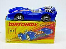 Matchbox Superfast #61 Blue Shark in original box