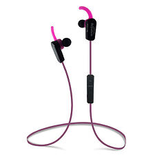 Beyution HiFi Stereo Wireless Bluetooth Earbuds for Smartphone Tablet PC-Hotpink