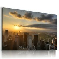 NEW YORK CITY SUNSET PERFECT View Canvas Wall Art Picture Large SIZES  L62   .