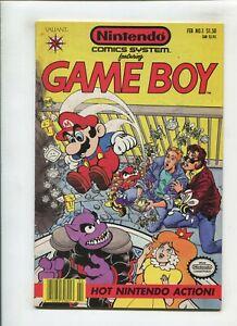 NINTENDO COMICS SYSTEM #1 (9.0) GAMEBOY!! 1991