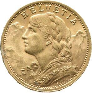 Schweiz 20 Franken (Vreneli) 1898 B GOLD Münze Coin