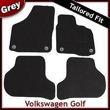 Volkswagen VW Golf Mk5 2003-2008 Round Eyelets Tailored Carpet Car Mats GREY