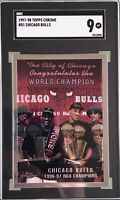 Michael Jordan Chicago Bulls 1997-98 Topps Chrome World Champion #51 SGC 9 Mint