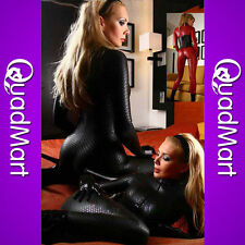 Black Long Sleeve Women Girls Bodysuit Women Costumes Club Clothing With Zipper