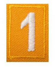 Girl Scout Troop Numbers Patches - Yellow - Daisy