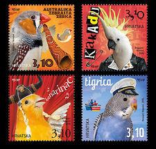Birds Croatia Kroatien  MNH** 2014  985-988 Children's World - Pets  Vögel