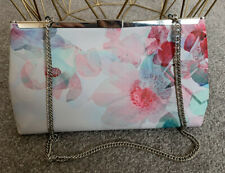 COAST MULTI COLOURED FLORAL CHAIN STRAP / CLUTCH BAG WEDDING OCCASION