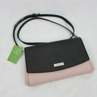 Kate Spade Laurel Way Greer Black & Warm Vellum Pink Crossbody Handbag Purse
