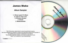 JAMES BLAKE Album Sampler 2011 UK watermarked & numbered 5-track promo only CD