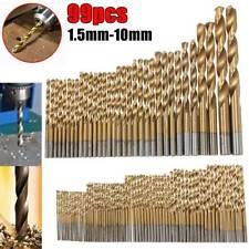 99PCS сверло с титановым покрытием Hss скорость прямая ручка Твист металл набор инструментов