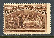 5c Columbian Mint, No Gum #234
