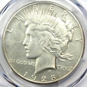1928 Peace Silver Dollar $1 - Certified PCGS AU Details - Rare 1928-P Coin!
