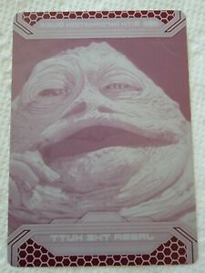 2015 Star Wars Chrome Perspectives Jabba the Hut 35-S Magenta Printing Plate 1/1