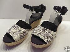 H&M # chice Slingback SANDALEN Gr. 40 weiß schwarz Damen Schuhe Wedges Pumps TOP