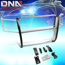 FOR 2014-2018 CHEVY SILVERADO POLISHED FRONT BUMPER GRILLE BRUSH GUARD/PROTECTOR