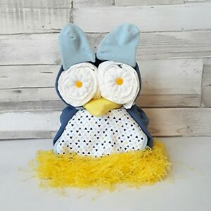 Nappy Cake Baby Shower Gift new baby boy Owl Diaper Cake baby accessories