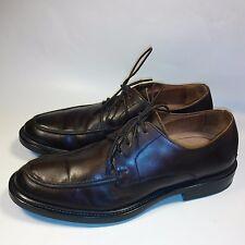 Men's Johnston & Murphy Oxford Split Toe Comfort Shoes Brown Leather-ITALY-10 M