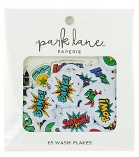 Park Lane Washi Flakes 65/Pkg-Super Hero 15965023 NEW