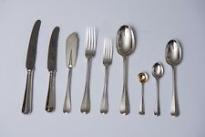 Victorian Silver 117 piece Rattail pattern Canteen of Cutlery London 1890
