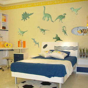 9Pcs Glow in the Dark Night Dinosaurs Stickers Wall Bedroom DecalsDecor Hot T5L1