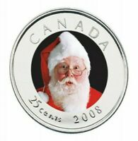 Canada 2008 Santa Proof Like 25 Cents!!