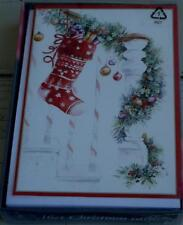 Trim A Home Christmas Cards with Envelopes - Stocking - 16 count - Brand New