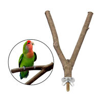 Bird Parrot Perch Natural Wood Fork Stand Birdcage Accessories - 15/20/25/30cm