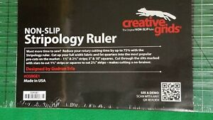 Creative Grids Stripology Slotted Quilting Ruler Template CGRGE1 USED--see photo